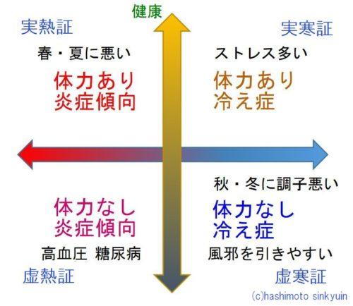 東洋医学の体質グラフ